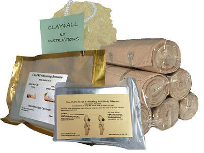 300gms Bums Tums Body Wrap Kit with 6 Ace Type Body Wrap Bandages