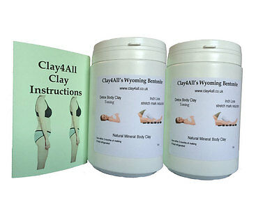 2 x 1 ltr slimming, toning, inch loss Pots of body clay