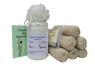 1 Litre Bums Tums Body Wrap Kit with With 6 Crepe Contour Type Body Wrap Bandage