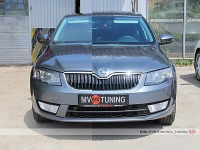 MV-Tuning Covers to Front Bumper RS Style for Skoda Octavia A7 III unpainted