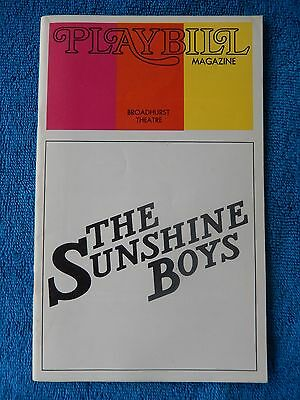 The Sunshine Boys - Broadhurst Theatre Playbill - June 1973 - Jack Albertson