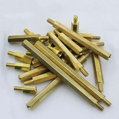 M2 M3 M4 Hex Tapped Brass Spacer Stand-Off Pillar Male-Female Brass Threaded