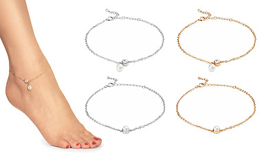 Pearl Anklets with Crystals from Swarovski® in Gift Box