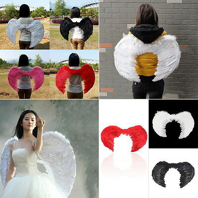 New Feather Fairy Angel Wings Party Fancy Dress Costume Accessory 45*35cm  KG