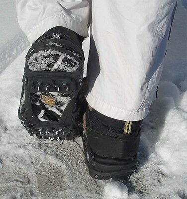 3 pairs of heavy duty ice cleats, 100% rubber, steel cleats, shoe-shaped