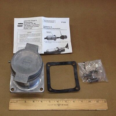 Crouse Hinds ARE6424 Arktite Receptacle Housing Model M3 3 Wire 4 Pole 600V 60A