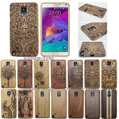 Real Natural Wood Bamboo Case Back Cover+Film for Samsung Galaxy S9 S8 S7 Note 5