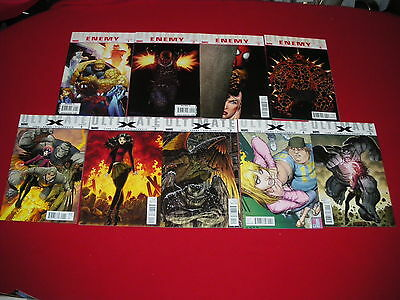 Ultimate Enemy #1 - 4  &  Ultimate X  #1 - 5  Bendis/sandoval/loeb/adams  New/nm