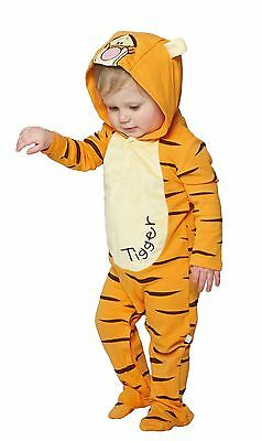 Toddler Baby Disney Tigger Romper Play Sleep Suit Costume Outfit Winnie the Pooh