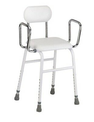 Adjustable Medical Shower Seat Bath Shower Chair Arms & Backrest Quality 300 LBS