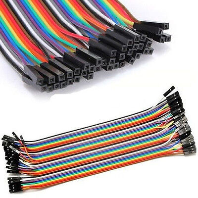 40pcs 20cm Dupont Female to Female Breadboard Jumper Wire F Raspberry Pi Arduino