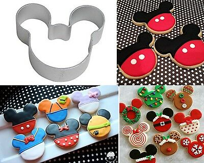 Mickey Minnie Mouse Head Logo Small Cookie Cutter Biscuit Cupcake cake topper