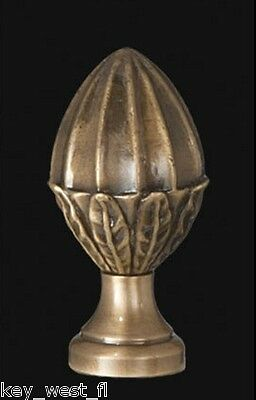 "VICTORIAN ACORN LAMP FINIAL ~ Antique Brass Finish  { 2 1/8"" Tall } ~ #LE5B"