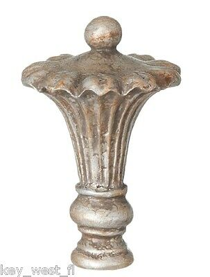 "VICTORIAN REGENCY  LAMP FINIAL ~ Antique Nickel Finish  { 3 5/8"" Tall } ~ by PLD"