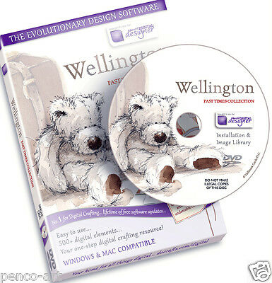 Docrafts scheibe Wellington bär Vergangenheit Mal kollektion CD Rom. Digital