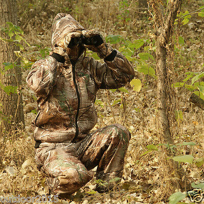 Outdoor Winter Tactical Camouflage Hunting Clothing Thickened Jacket Pants Suit