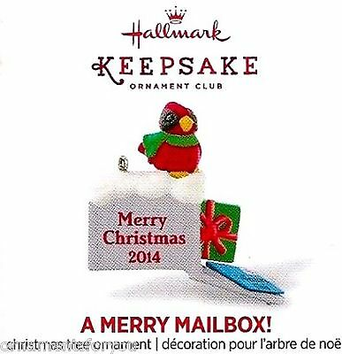 Hallmark 2014 A Merry Mailbox Santa Has Mail Repaint Mini Christmas Ornament