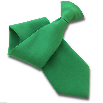 Matt Emerald Green Security Guard or Bouncer Clipper Clip On Snapper Uniform Tie