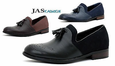 Men Smart Slip On Dress Tassel JAS Fashion Designer Loafers Casual Brogue Shoes