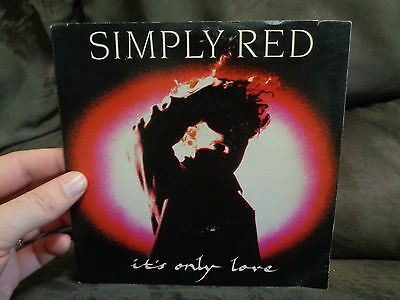 """SIMPLY RED_It's Only Love_used 45 VINYL_7""""_ships from AUS!_M9d"""