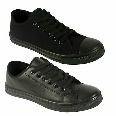 Womens Mens  Trainer  Faux Leather Lace Up Pumps Trainers  Sneakers Shoes Sizes