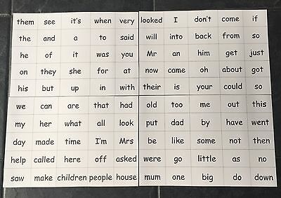 100 High Frequency Words Mat EYFS/Primary Reading/Writing Learning Resource