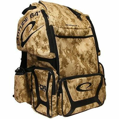Latitude 64 Luxury E2 Backpack Camo Disc Golf Bag Holds 20+ Discs