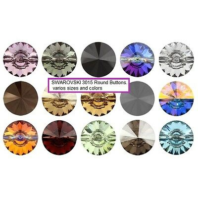 ALL SIZES Swarovski Buttons sew on crystal 3015 colors Wholesale pack