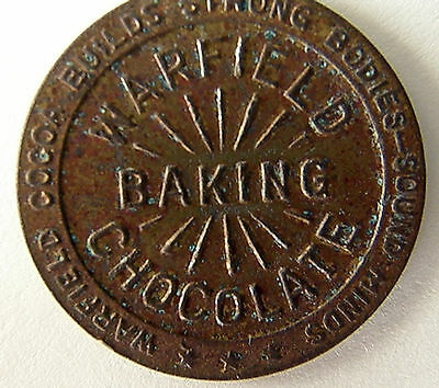 1920's Warfield Baker's Chocolate Good Luck Advertising Medal  Look