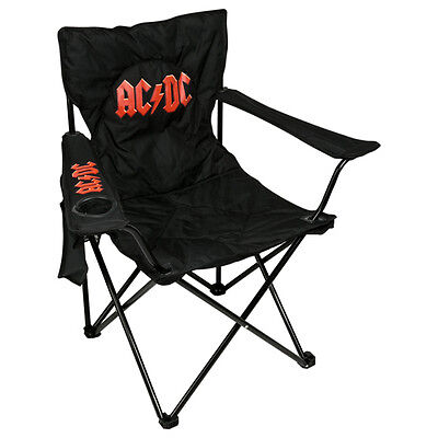ACDC FOLDING CHAIR Man Cave Pool Room We Salute Tour Camping Music Fathers Day