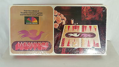 Backgammon Board Game 1975 by Selchow & Righter Board Game NEW