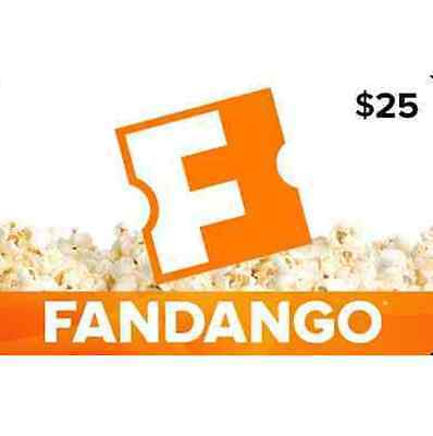 $25 Fandango Gift Card - Fast Email delivery