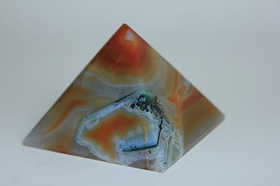Agate Pyramid- Display - Crystal Healing -Metaphysical - Paper Weight