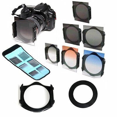 67mm ring Adapter+ND2/ND4/ND​8 +Graduated Orange/Blue Filter for Cokin p series