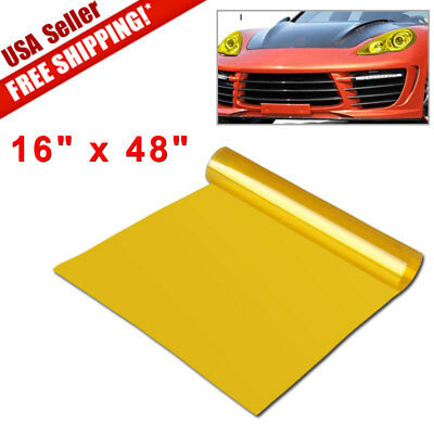 "16"" x 48"" Gold Yellow Smoke Headlight Taillight Fog Light  Vinyl Film Tint Wrap"