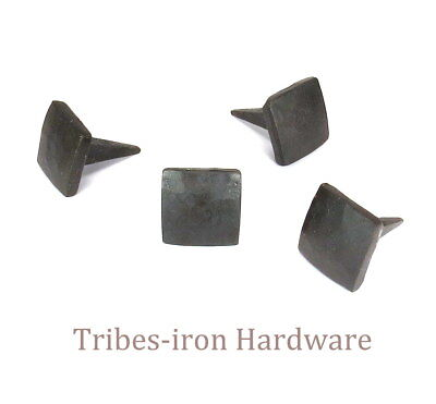 "32 HANDMADE 3/4"" SQUARE HEAD IRON NAILS Rustic Hardware Clavos Door Decor Studs"