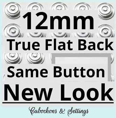 50 Fabric Self Cover Buttons 12mm NEW  FLATBACK Start Kit Tool Template Inst 20L