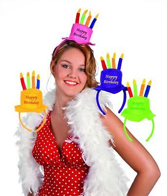 3 X Cerchietto Mini Cappello Forma Torta Compleanno Happy Birthday Festa Party