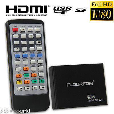 Mini Full-HD 1080P Lecteur Multimédia Smart TV Box PR MKV H.264 Blu-ray 3D Films