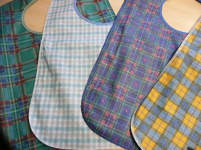 Adult Washable Bib Apron Tabard Heavy Duty Water Proof Clothes Protector 60 Cm