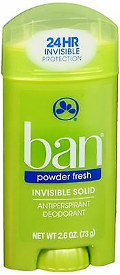 Ban Anti-Perspirant Deodorant Invisible Solid Powder Fresh 2.60 oz (Pack of 3)