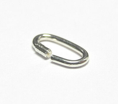 5mm Sterling Silver Link Lock Lockable Ring Joint .925 Charms Pack 10 - FJ205
