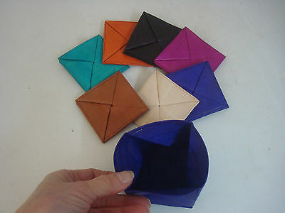 Magic coin purse. Ethnic Moroccan. Real leather. Unpatterned. Choice of colours.