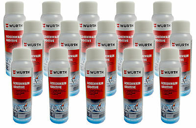 Genuine Wurth Wind Screenwash Anti Freeze Concentrated Additive 125ml x 15
