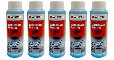 Genuine Wurth Screenwash Anti Freeze Concentrated Additive 125ml x 5 Five Pack