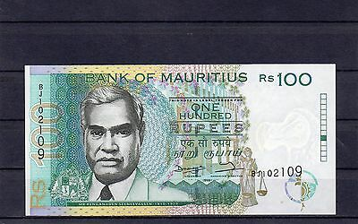 MAURITIUS Africa 100 Rupees 1998 UNC p-44 Error Note Withdrawn