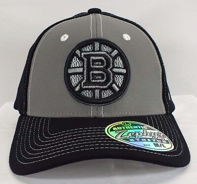 "Boston Bruins Nhl Adult Flex/fitted Hat ""m/l"" Size New Cap By Zephyr F-85"