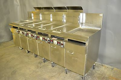 Used Keating 4 Well Gas Fryer w/ 2 Dump Stations, Excellent, Free Shipping!
