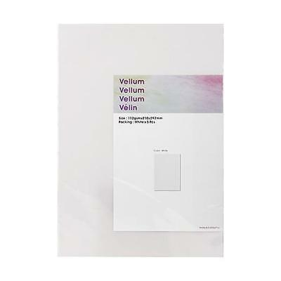 Hobby & Crafting Fun A4 Vellum Paper - 5pcs White #2203