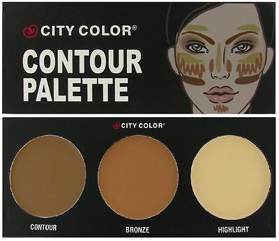 City Color CONTOUR KIT/SET PALETTE Contour Bronzer Bronze Highlighter Contouring